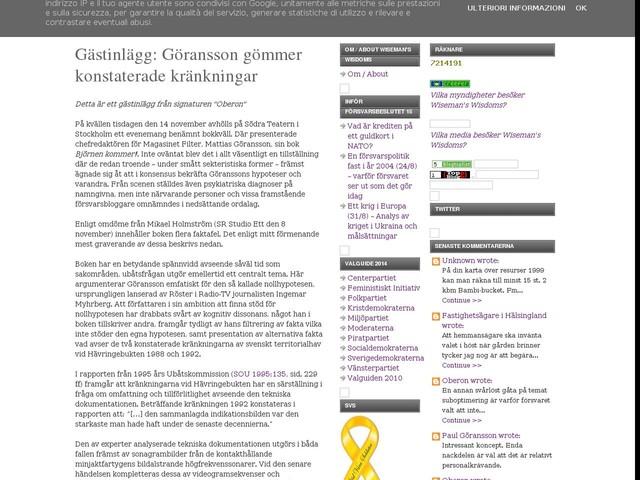 Gästinlägg: Göransson gömmer konstaterade kränkningar