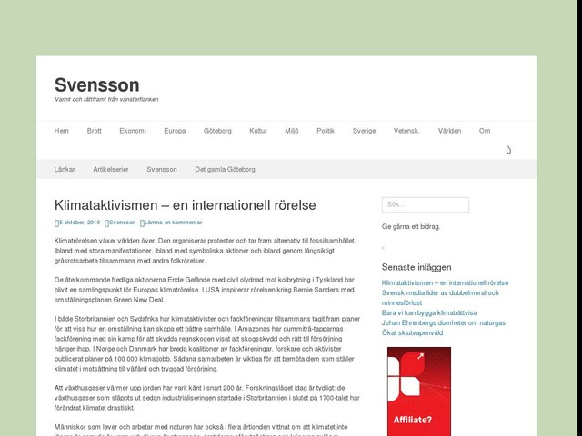 Klimataktivismen – en internationell rörelse