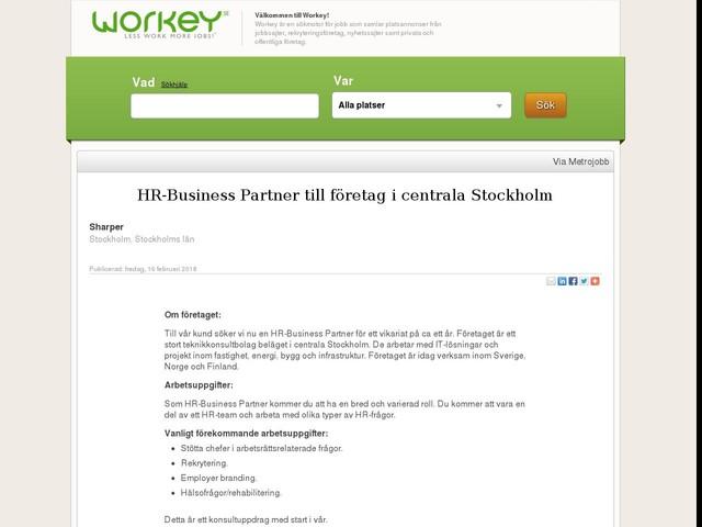 HR-Business Partner till företag i centrala Stockholm