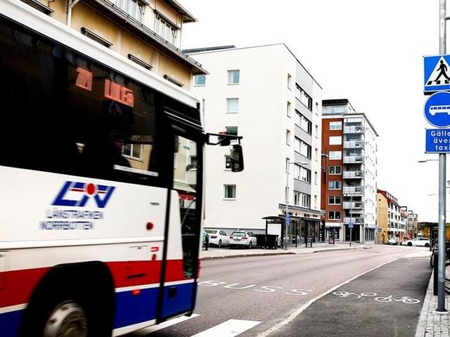 Försenade bussar i Luleå