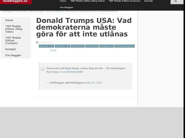 Donald Trumps USA: Vad demokraterna måste göra för att inte utlånas