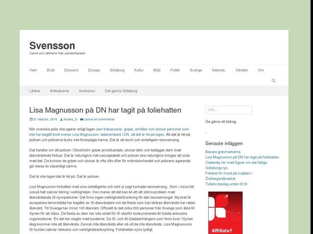 Lisa Magnusson på DN har tagit på foliehatten