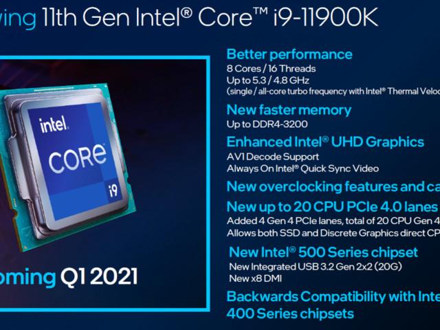"""Intel """"RocketLake"""" bekänner färg i Geekbench"""