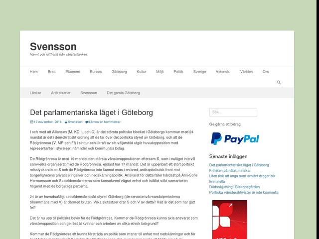 Det parlamentariska läget i Göteborg