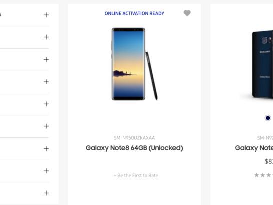 Galaxy Note 8 dök upp på Samsungs hemsida, försvann snabbt