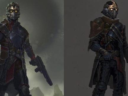 Spana in oanvänd karaktärsdesign av Guardians of the Galaxy
