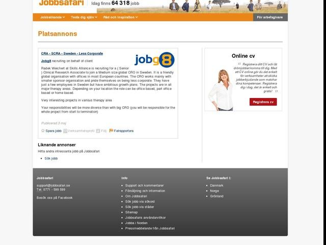 CRA - SCRA - Sweden - Less Corporate, Jobg8