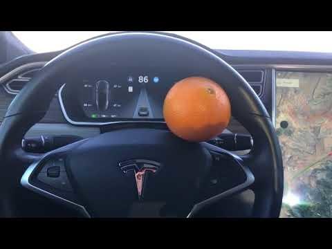 Snubbe lurar Teslas autopilot med apelsin