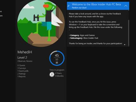 Nu finns Xbox Insider Hub till Windows 10