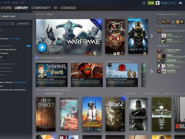 Steams spelbibliotek får nytt gränssnitt och integration med SteamEvents