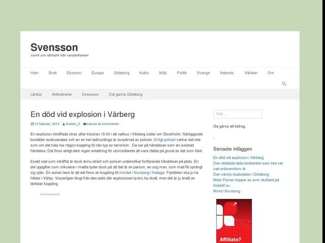 En död vid explosion i Vårberg