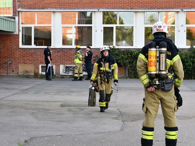 Brand vid Segevångsskolan i Malmö