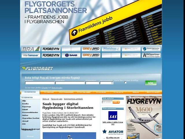 Saab bygger digital flygledning i Storbritannien
