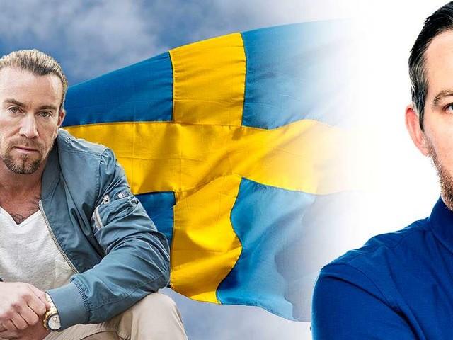 Fira Sverige med en staty av Jan Emanuel