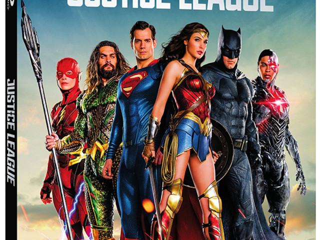 Det här innehåller Justice League på blu-ray