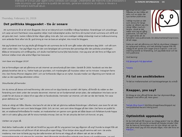 Det politiska bloggandet - tio år senare