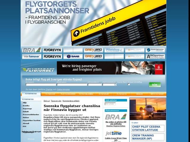 Svenska flygplatser chanslösa när Finnavia bygger ut