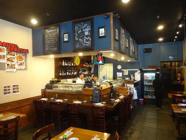 Harumi Sushi i Cupertino i Silicon Valley, liten med naggande god