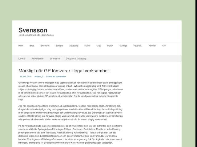 Märkligt när GP försvarar illegal verksamhet