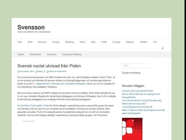 Svensk nazist utvisad från Polen