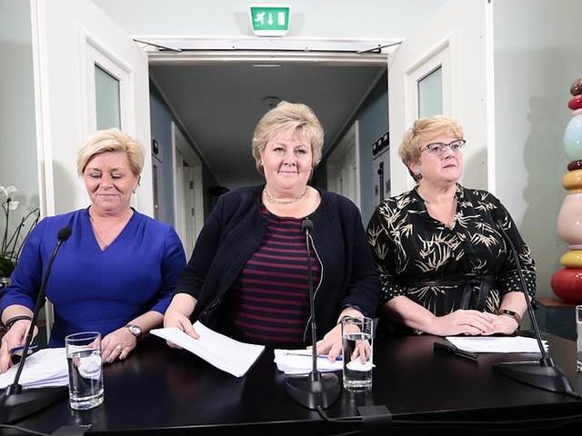 Ommöblering när norsk regering presenteras