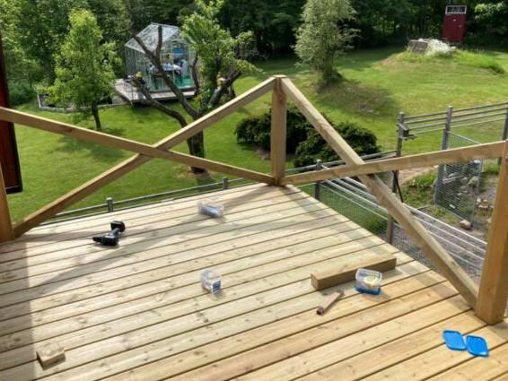 Balkongen är klar!