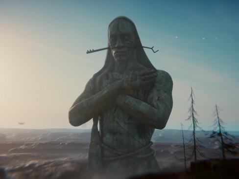 Den interaktiva Unity-teasern Book of the Dead uppvisad