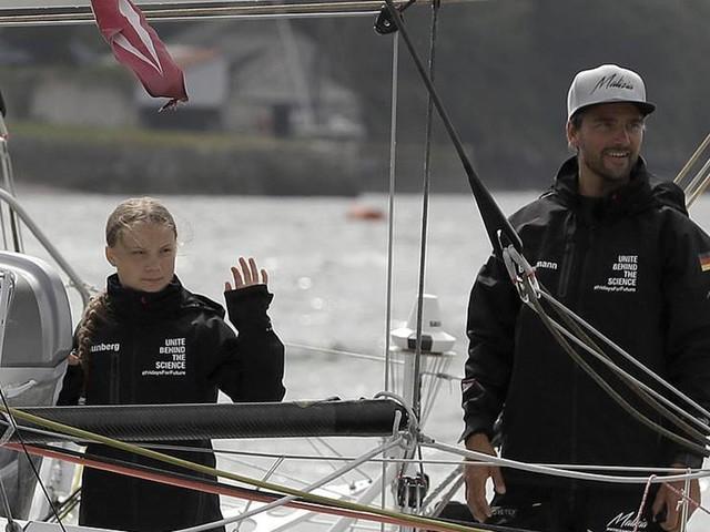 Medvind för Greta Thunbergs båt
