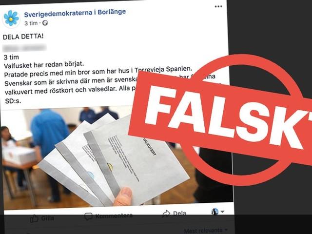 Nej, utlandssvenskar har inte fått alla partiers valsedlar utom SD:s