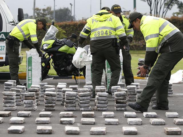 Sju ton kokain beslagtaget av polis
