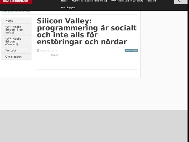 Silicon Valley: programmering är socialt och inte alls för enstöringar och nördar