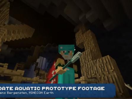 Spela Minecraft under ytan med expansionen Aquatic