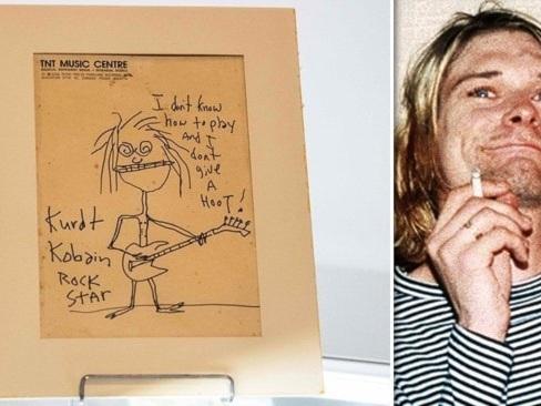 Kurt Cobains självporträtt klubbat för 2,3 miljoner
