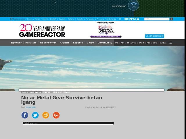Nu är Metal Gear Survive-betan igång