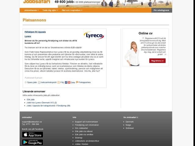 Fältsäljare till Uppsala, Lyreco Danmark A/S