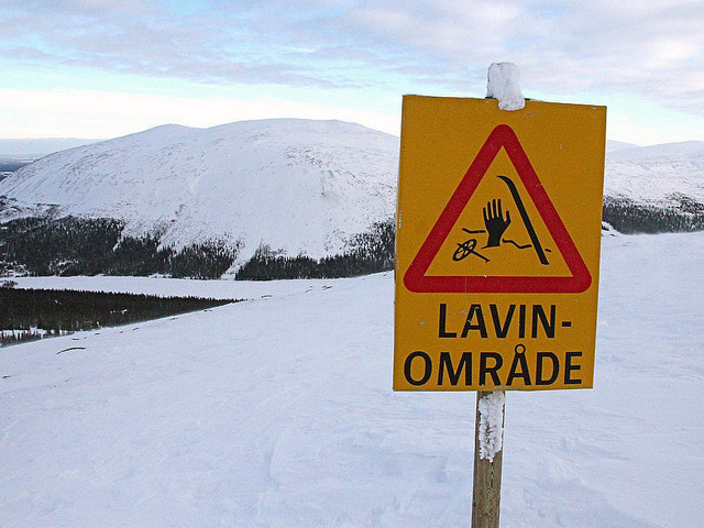 Stor lavinfara i södra Lappland