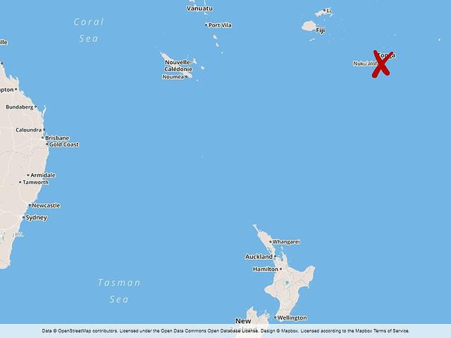 Cyklonen Gita rör sig mot Tonga
