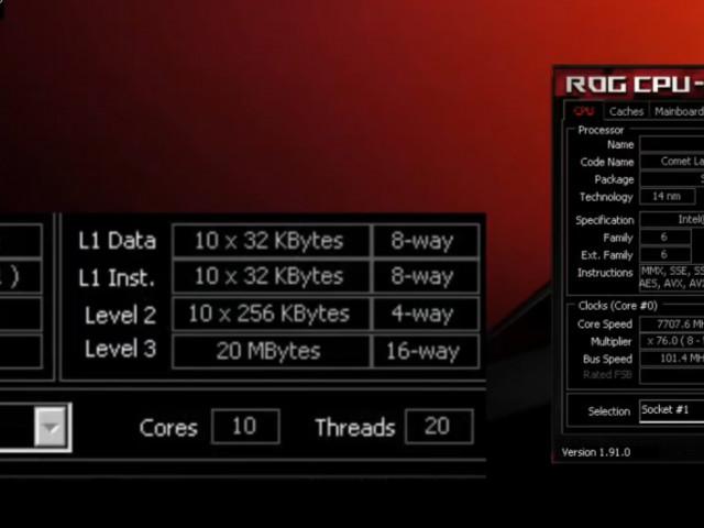 Överklockare pressar Intel Corei9-10900K till 7707MHz