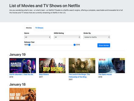 Håll koll på (amerikanska) Netflix