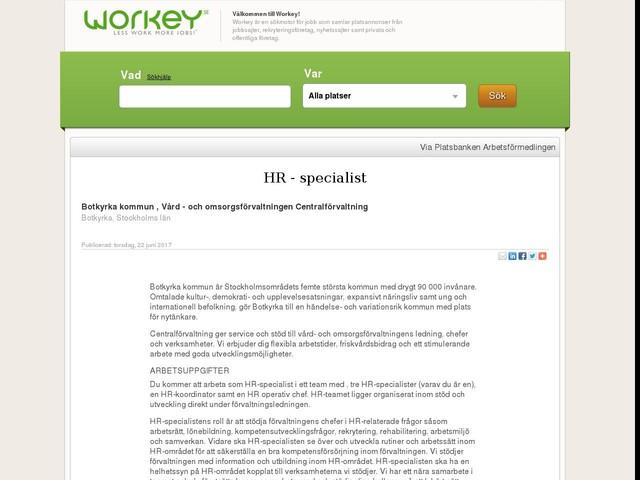 HR - specialist