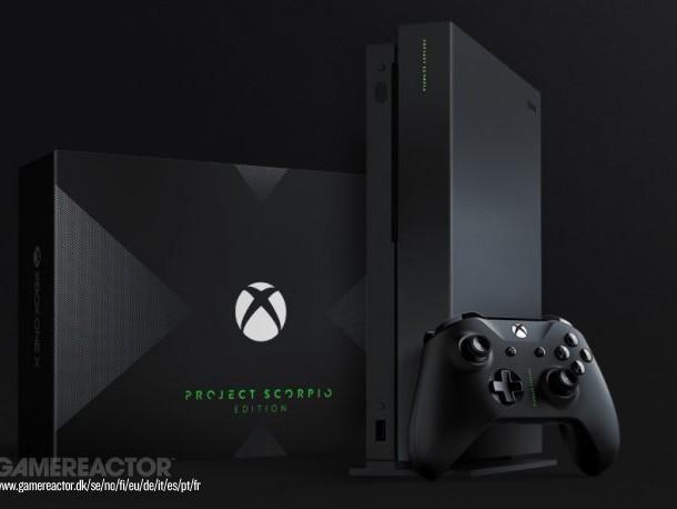 Snordyra Xbox One X Scorpio Edition på Ebay