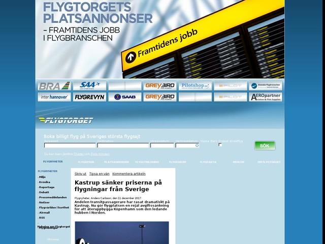 Kastrup sänker priserna på flygningar från Sverige