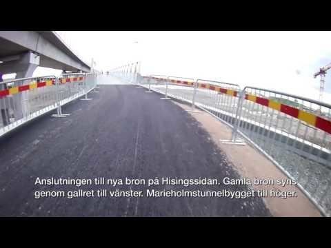 FILM: Cyklar över nya Södra Marieholmsbrons cykelbana