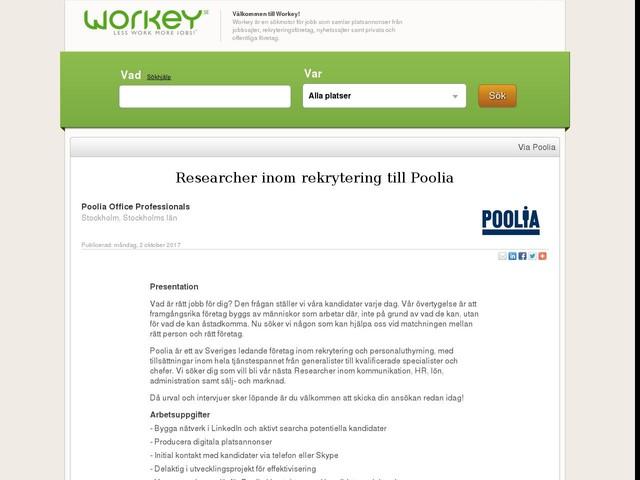 Researcher inom rekrytering till Poolia