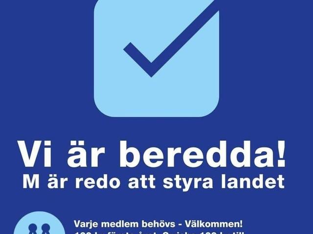 Moderaterna står redo – svenska folket vill se Ulf Kristersson (M) som ny statsminister!
