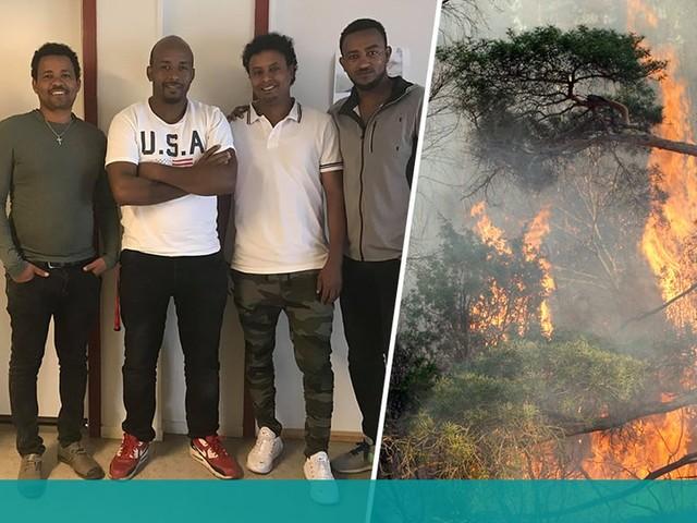 Yitbareks gest till brandmännen – samlade in tusentals kronor