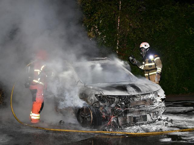Bilbrand på Lärkträdsgatan