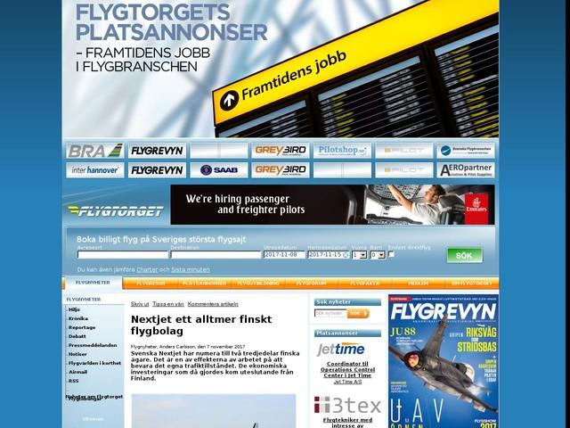 Nextjet ett alltmer finskt flygbolag