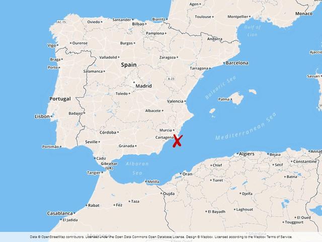 Spanskt militärflyg har störtat i Medelhavet