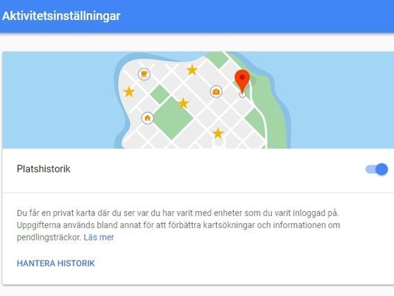 Så stänger du av Googles läskiga övervakningstjänst